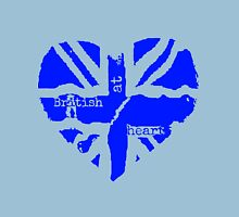 Brit At Heart (blue) Womens Fitted T-Shirt
