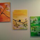 birds on a tree by moumita