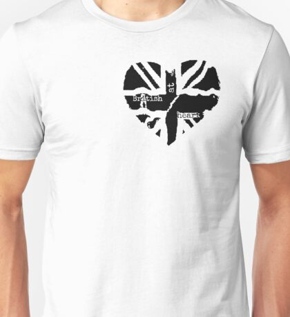 British At Heart (pocket) Unisex T-Shirt