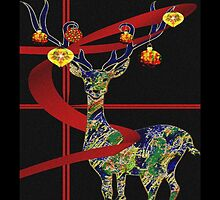 Christmas Deer by Penny Ward Marcus