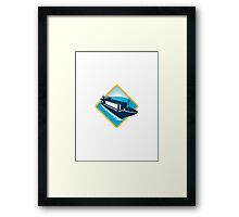 container ship diamond retro Framed Print