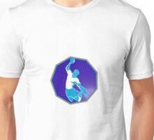handball player jumping throwing ball Unisex T-Shirt