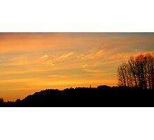 Orange sunset Photographic Print