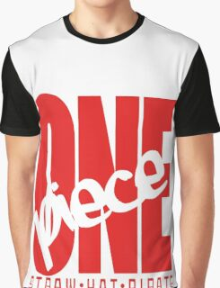 One Piece Red Graphic T-Shirt