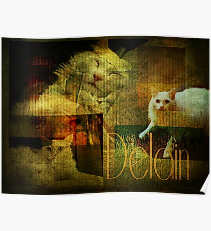 Three poses of Delain Poster