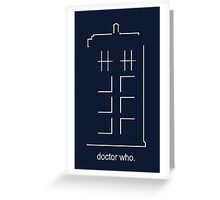 Doctor Who Design - Abstract TARDIS Greeting Card