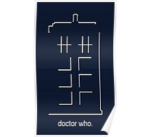 Doctor Who Design - Abstract TARDIS Poster