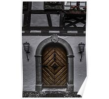 Doorway - Portal - 18th Century Old Door - Photography - Card Poster