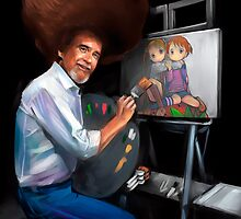 Bob Ross and Lolis by Fede 