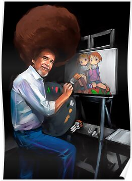 Bob Ross and Lolis by Fede-lasse