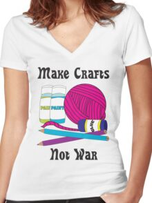 Make Crafts Women's Fitted V-Neck T-Shirt