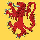 Lion Rampant Gules by Richard Fay