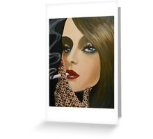 A LADY WITH A CIGARETTE Greeting Card