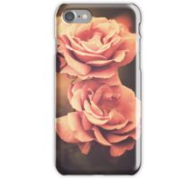 Three Pink Roses (Vintage Flower Photography) iPhone Case/Skin