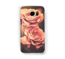 Three Pink Roses (Vintage Flower Photography) Samsung Galaxy Case/Skin