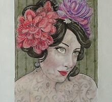 Lydia The Tattooed Lady by Sheleigh