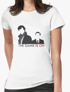 The Game is On Womens Fitted T-Shirt