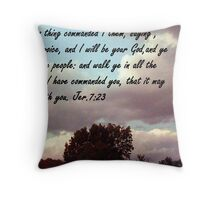 I Will Be Your God Throw Pillow