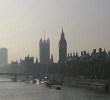 Big Ben on the Thames by Carol Singer