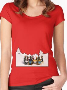 The Study Group's Winter Wonderland - Style B Women's Fitted Scoop T-Shirt