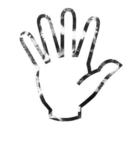 textured hand Sticker