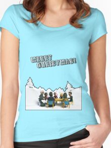 The Study Group's Winter Wonderland - Merry Christmas Women's Fitted Scoop T-Shirt