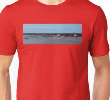Three Deep Sea Ships And Tug Boats On Mississippi River In Louisiana Unisex T-Shirt