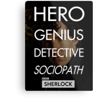 Consulting Detective Metal Print