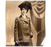 Sadie Mae Egbert Engagement Photo 1902 Poster