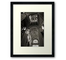 Vaults of Rouen Cathedral Framed Print