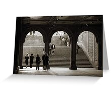 Under Bethesda Terrace Greeting Card