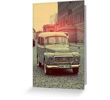 old volvo Greeting Card