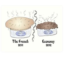 French souffle' economy blows over into recession Art Print