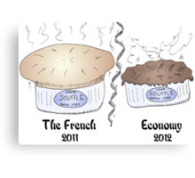 French souffle' economy blows over into recession Canvas Print