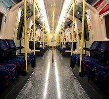 London - Underground - Alone on the Northern Line by rsangsterkelly