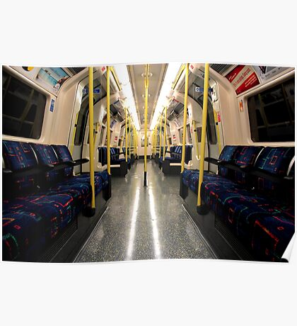 London - Underground - Alone on the Northern Line Poster