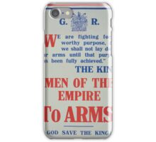 Men of the empire to arms! God save the king! iPhone Case/Skin