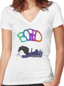 Sherlock - Bored Women's Fitted V-Neck T-Shirt