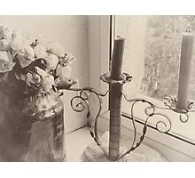 candles and roses. Photographic Print
