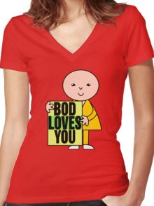 Bod Loves You Women's Fitted V-Neck T-Shirt