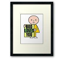 Bod Loves You Framed Print
