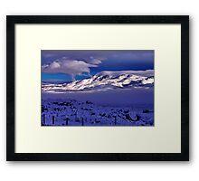 Tule Peak Sunrise Framed Print
