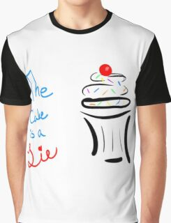 "Portal ""The Cake Is A Lie"" Cupcake Graphic T-Shirt"