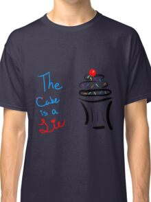 "Portal ""The Cake Is A Lie"" Cupcake Classic T-Shirt"