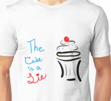 "Portal ""The Cake Is A Lie"" Cupcake Unisex T-Shirt"