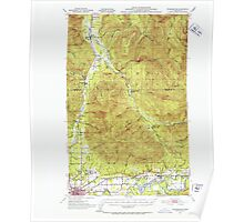 USGS Topo Map Washington State WA Wickersham 244689 1951 62500 Poster