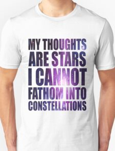 The Fault in our Stars - Stars Quote Unisex T-Shirt