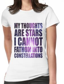 The Fault in our Stars - Stars Quote Womens Fitted T-Shirt