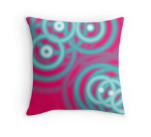 modern abstract girly pattern hot pink Fuschia Throw Pillow