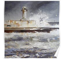 South Gare Lighthouse Poster